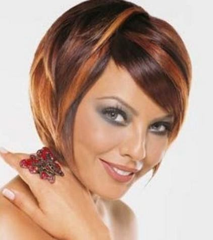 3 cute hair color for short hair hairstyles hair color for red colored layered bob hairstyle with chunky highlights or angled short hair bob with red and brown highlights its a good idea pmusecretfo Choice Image