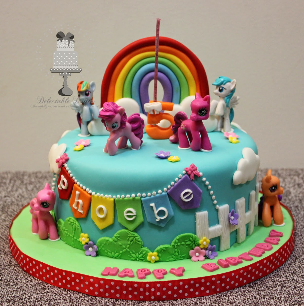 Delectable Delites: My Little Pony cake for Phoebes 5th birthday