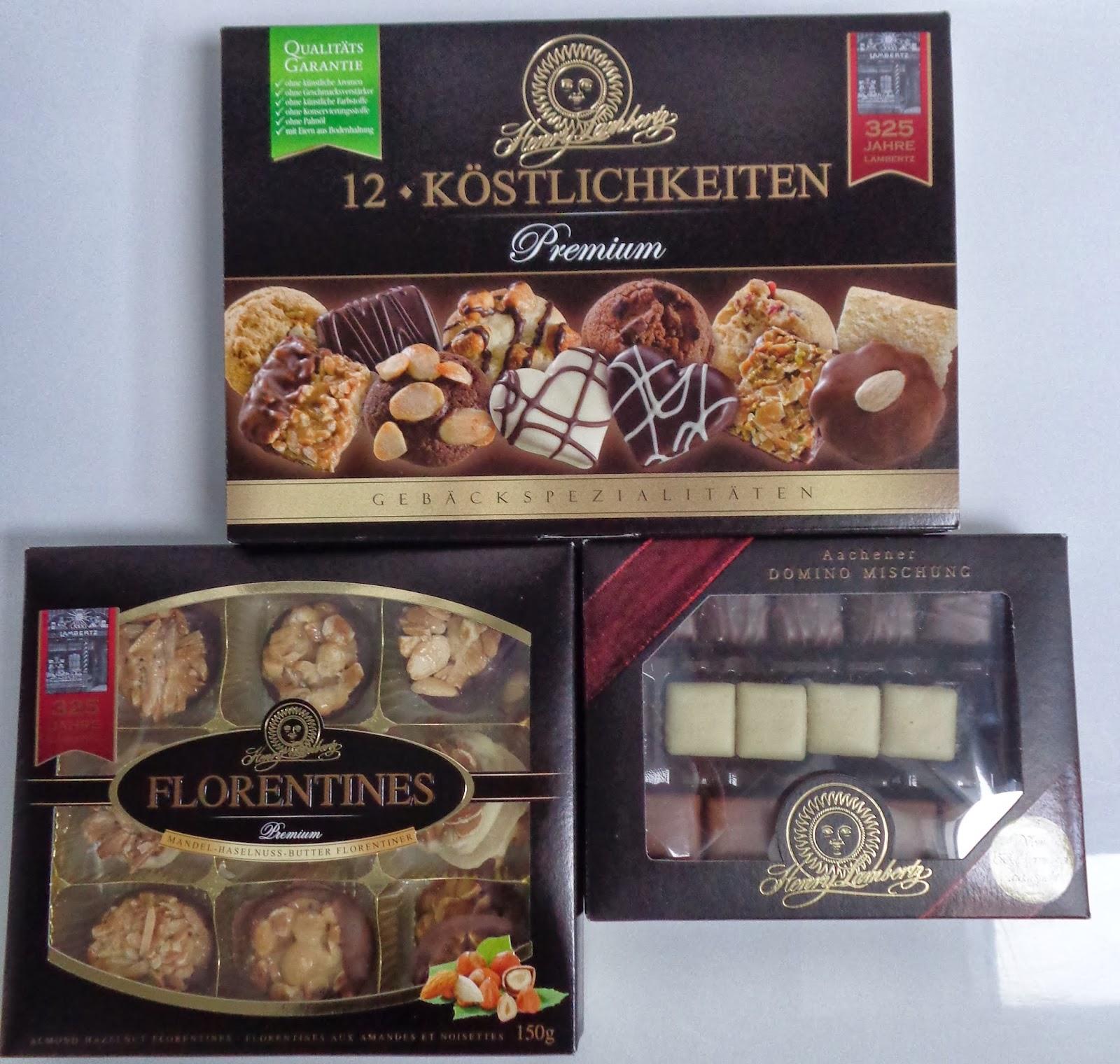 Henry Lambertz; Aachen; Kekse; Dominosteine; Florentiner