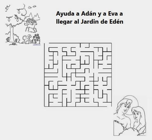 Lecci n 2 ad n y eva historias biblicas para ni os for Adan y eva en el jardin del eden para colorear