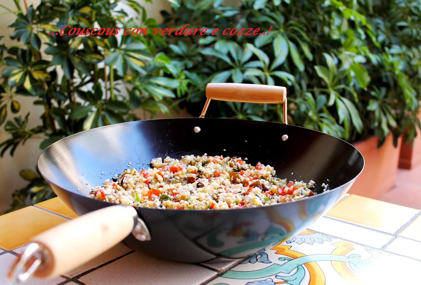 Couscous con verdure e cozze