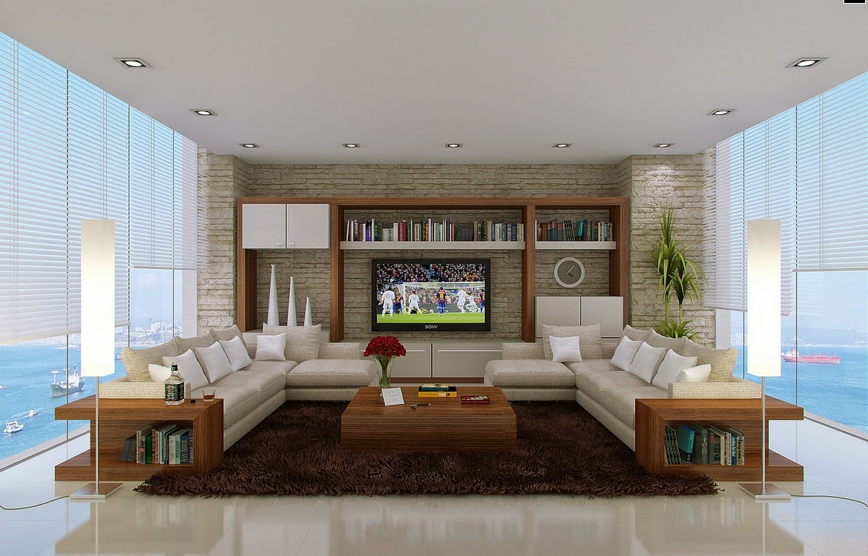 Hogares frescos tendencias para salas modernas y espaciosas for V shaped living room