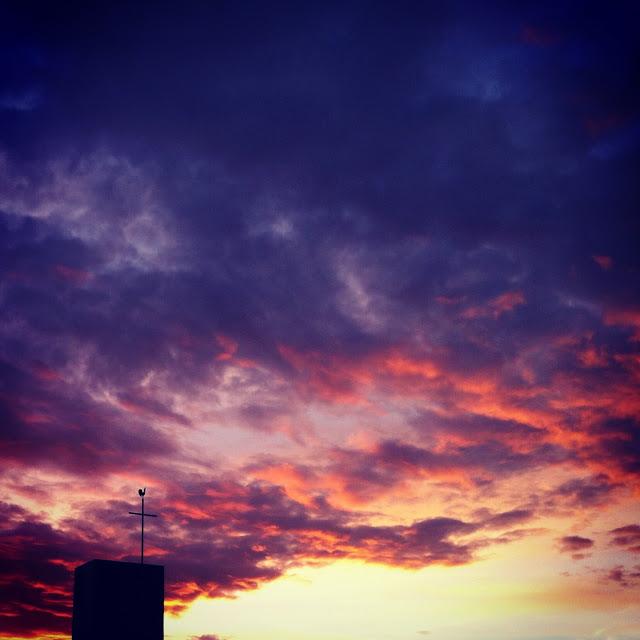 Morgenrot im Dezember