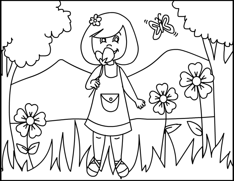 Summer flowers coloring pages printable : Summer flowers coloring pages printable cooloring