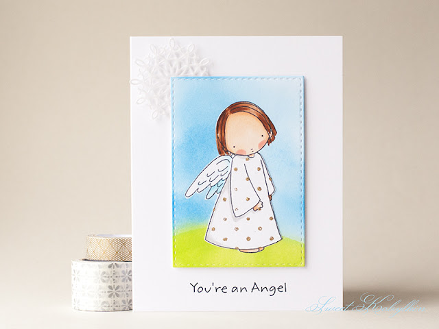 Greeting Card with Angel from My Favorite Things by Sweet Kobylkin