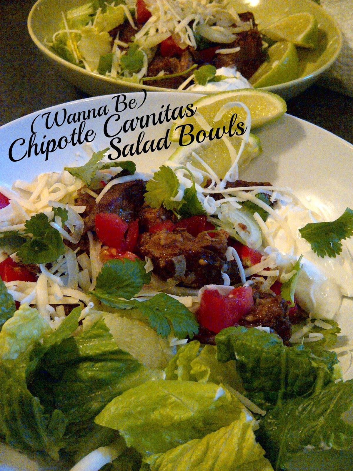 (Wannabe Chipotle) Carnitas Salad Bowls