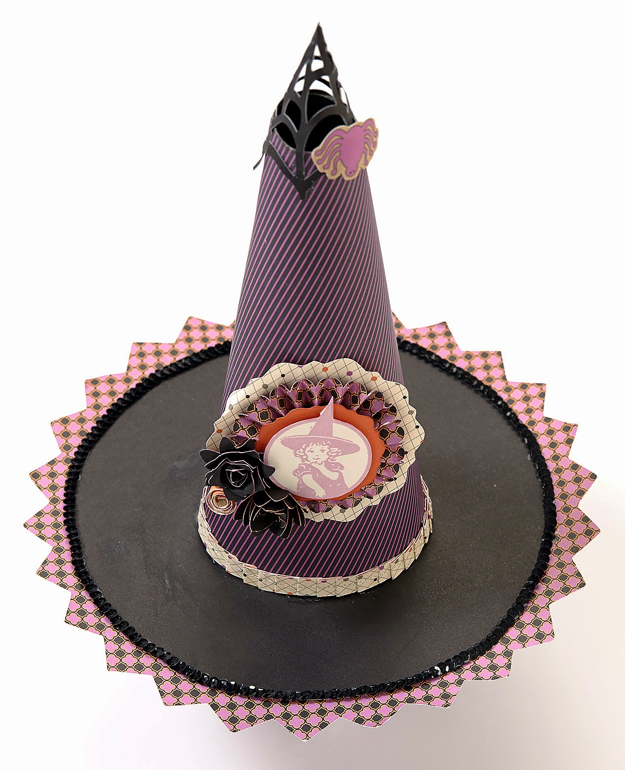 Spider Web Halloween Witch's Hat CTMH