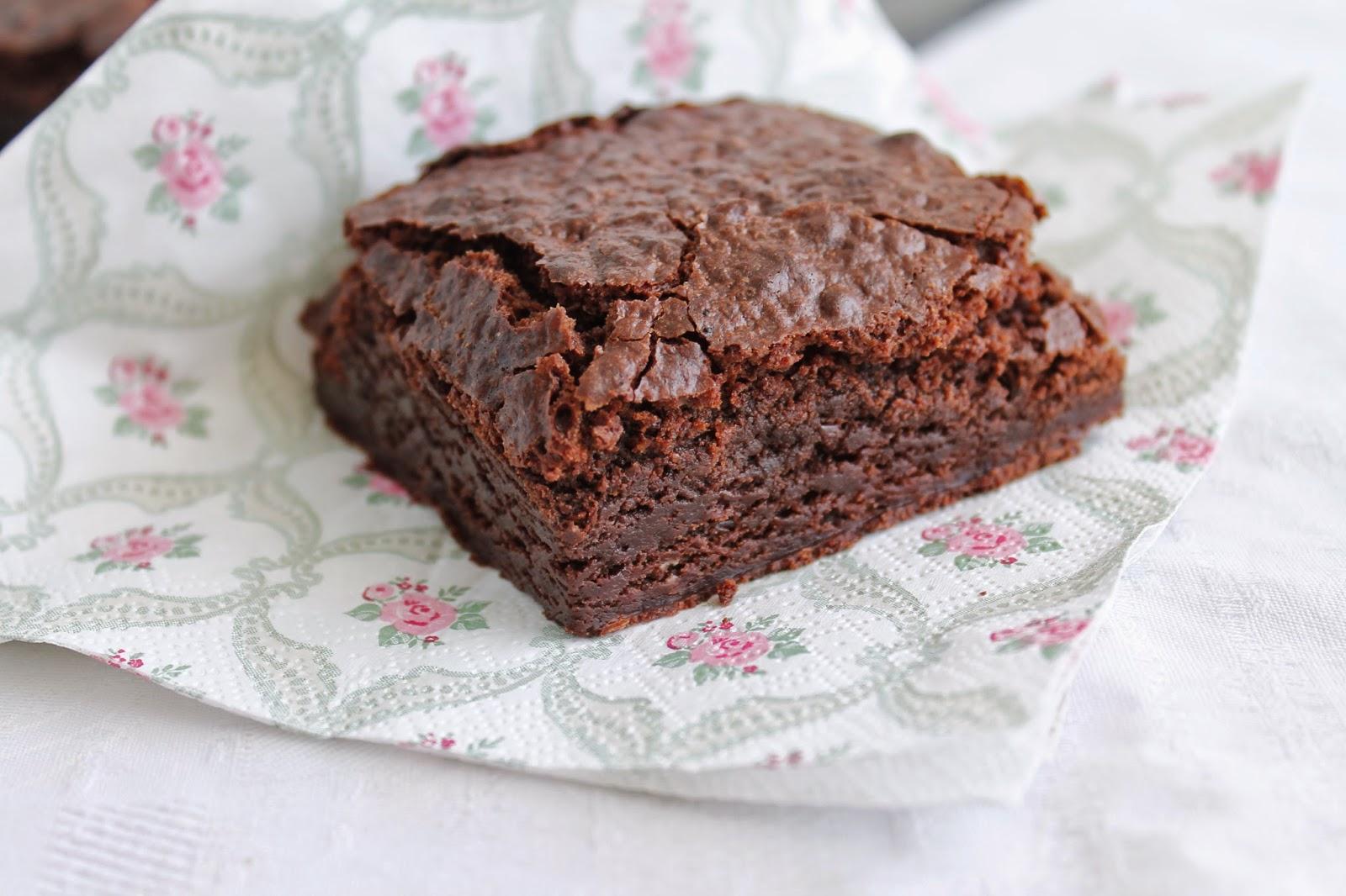 Receta de Brownie con sabor a café