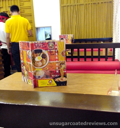 tables in Rai Rai Ken at Lucky Chinatown Mall in Binondo, Manila