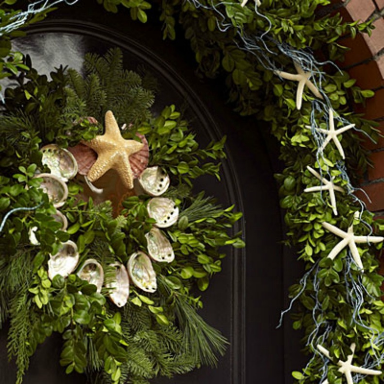 coastal holiday wreath