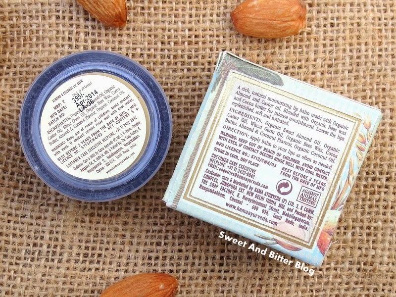 Kama Ayurveda Almond & Coconut Lip Balm with Organic Bees Wax Ingredients