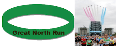 great north run wristband