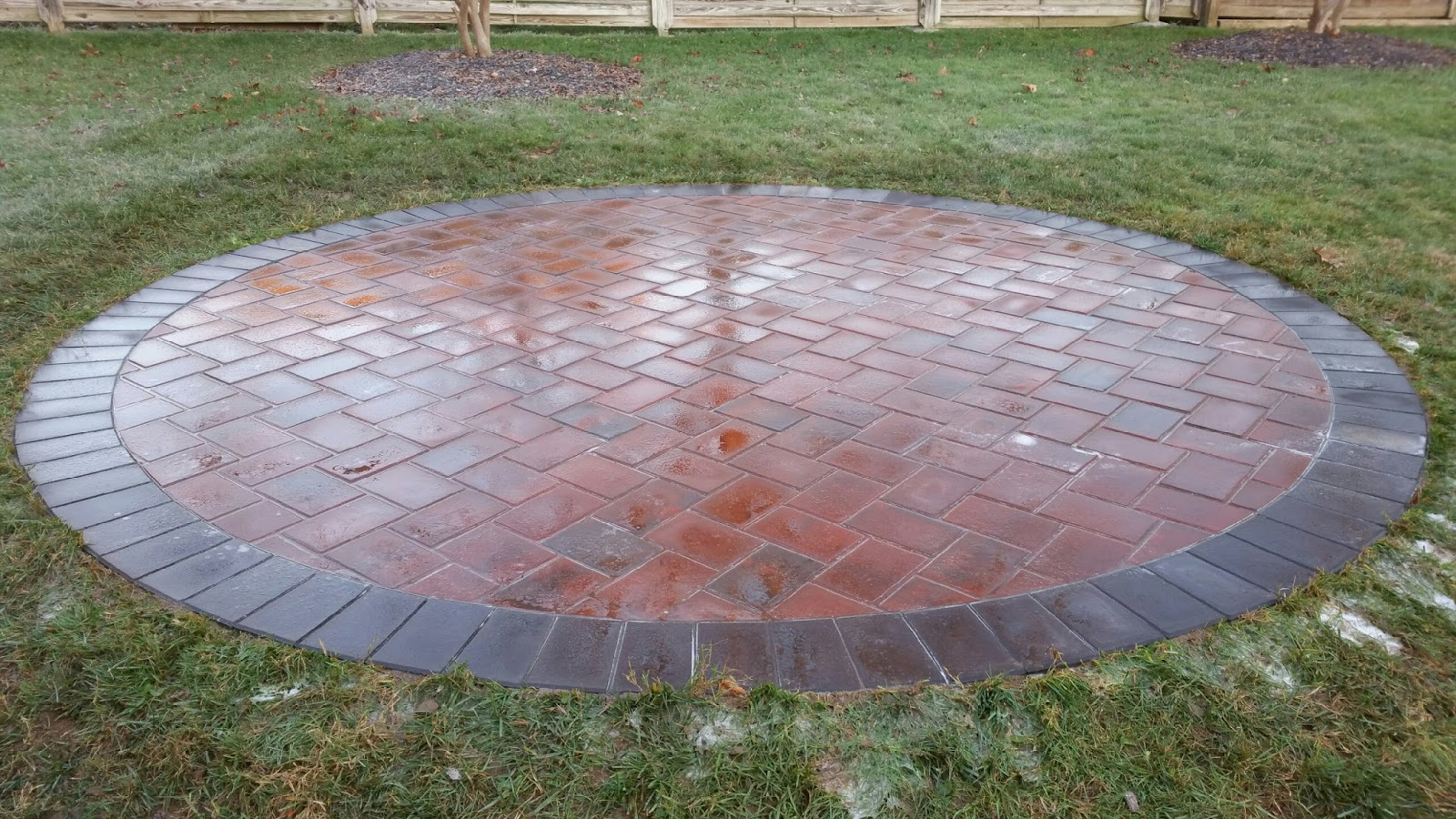 Circle Patio For A Fire Pit In Linthicum MD