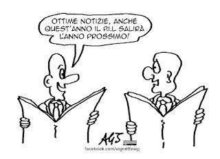 economia, pil, crisi, satira vignetta