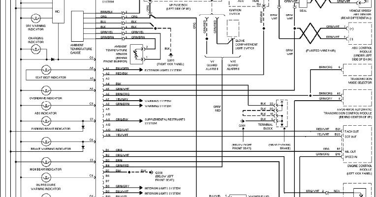 1997 Volvo 960 Instrument Cluster System Wiring