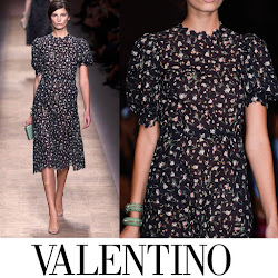 Valentino Ruffle Front Coat and Valentino Spring 2013-Ready to Wear