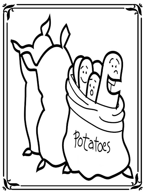 coloring pages of mashed potatoes