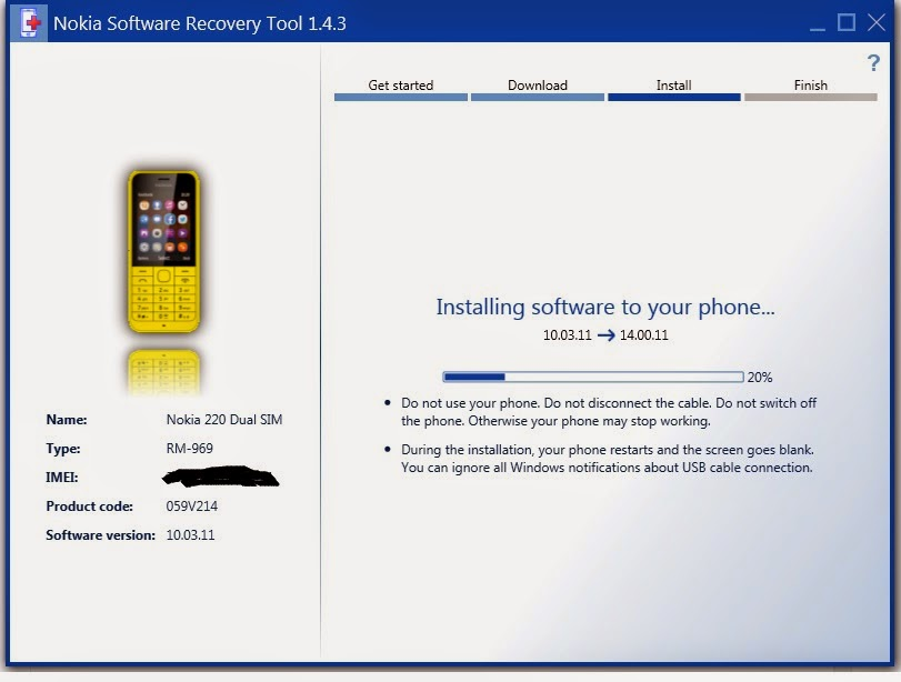 OneTouch nokia software recovery tool nokia 130 simple application use