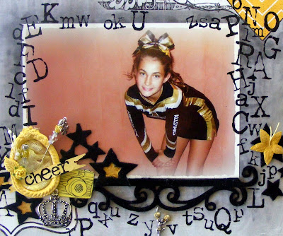 Cheerleading Scrapbooking Layout