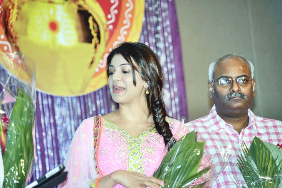 Beautiful & exotic Kajal agarwal at nats telugu sambaralu