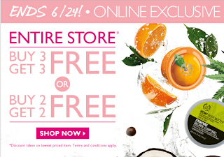 Buy 3 Get 3 FREE at Body Shop