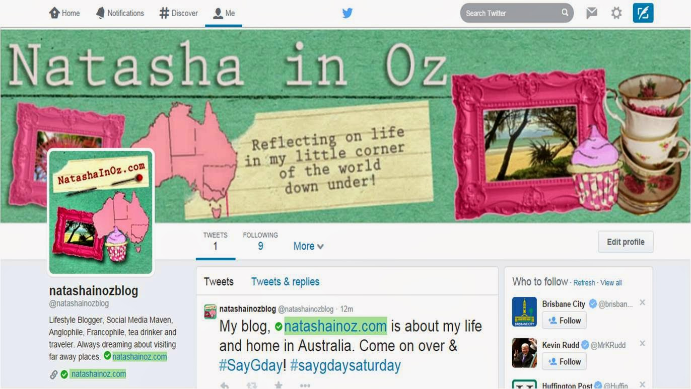 Say G'Day Linky Party {113} and an Invite to Guest Post at Natasha in Oz