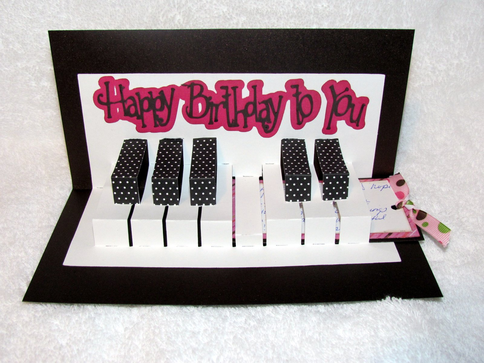 Live for Scrappin Piano Birthday Card – Live Birthday Greetings