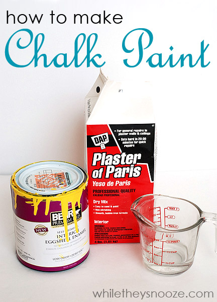 while they snooze how to make chalk paint