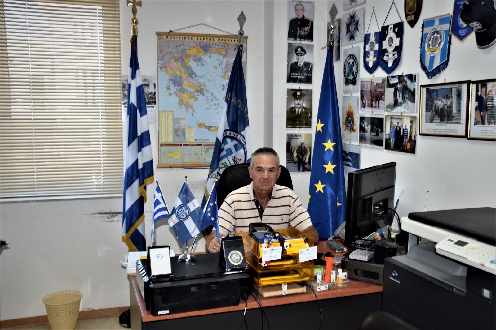 ΠΡΟΕΔΡΟΣ ΤΟΥ ΣΥΝΔΕΣΜΟΥ Αποστράτων Σωμάτων Ασφαλείας Ν. Αργολίδας