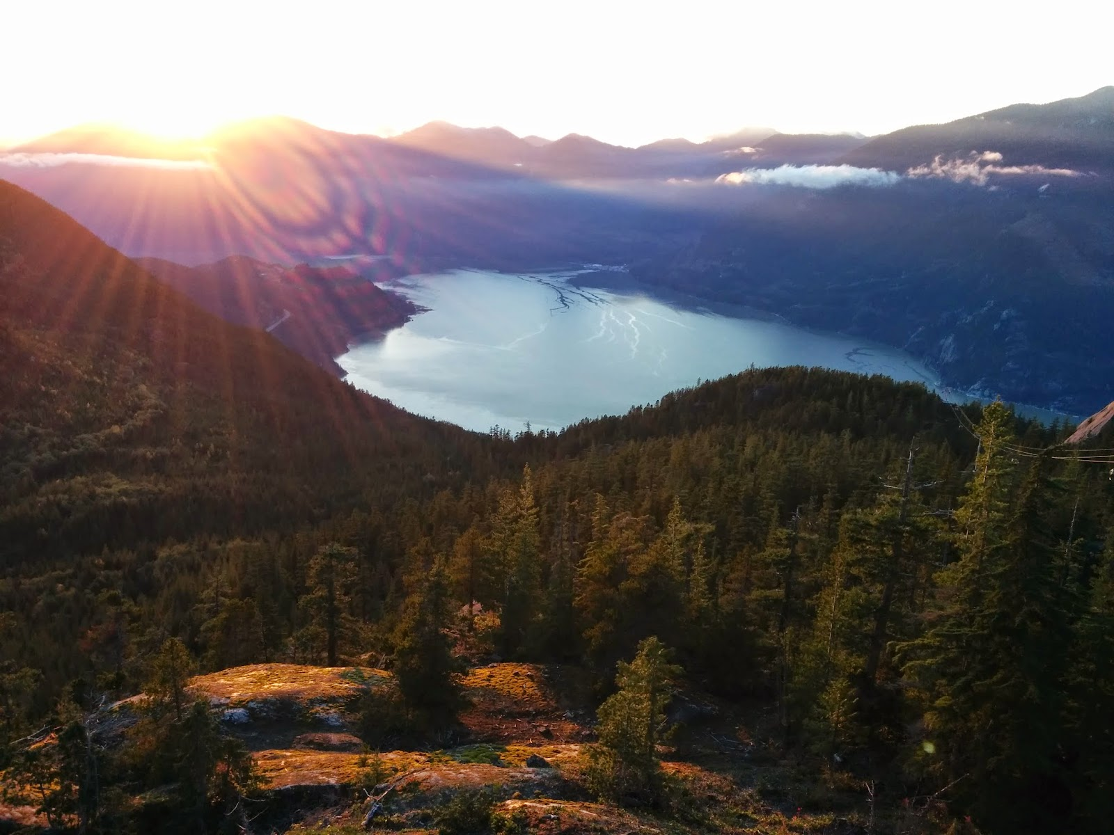 Закат на заливе Howe Sound