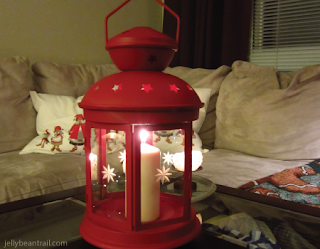 Red lantern for Christmas