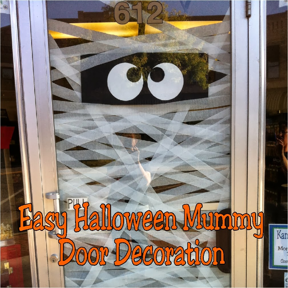 Easy Halloween Mummy Door Decoration
