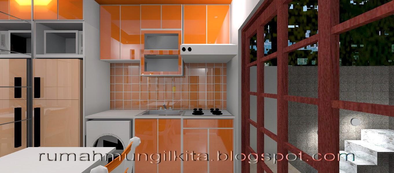 ruang makan dan dapur oranye