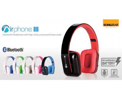 sonic gear airphone 3 headphone bluetooth harga terjangkau