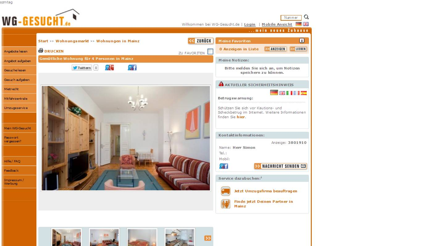 Mainz Wohnung Mieten