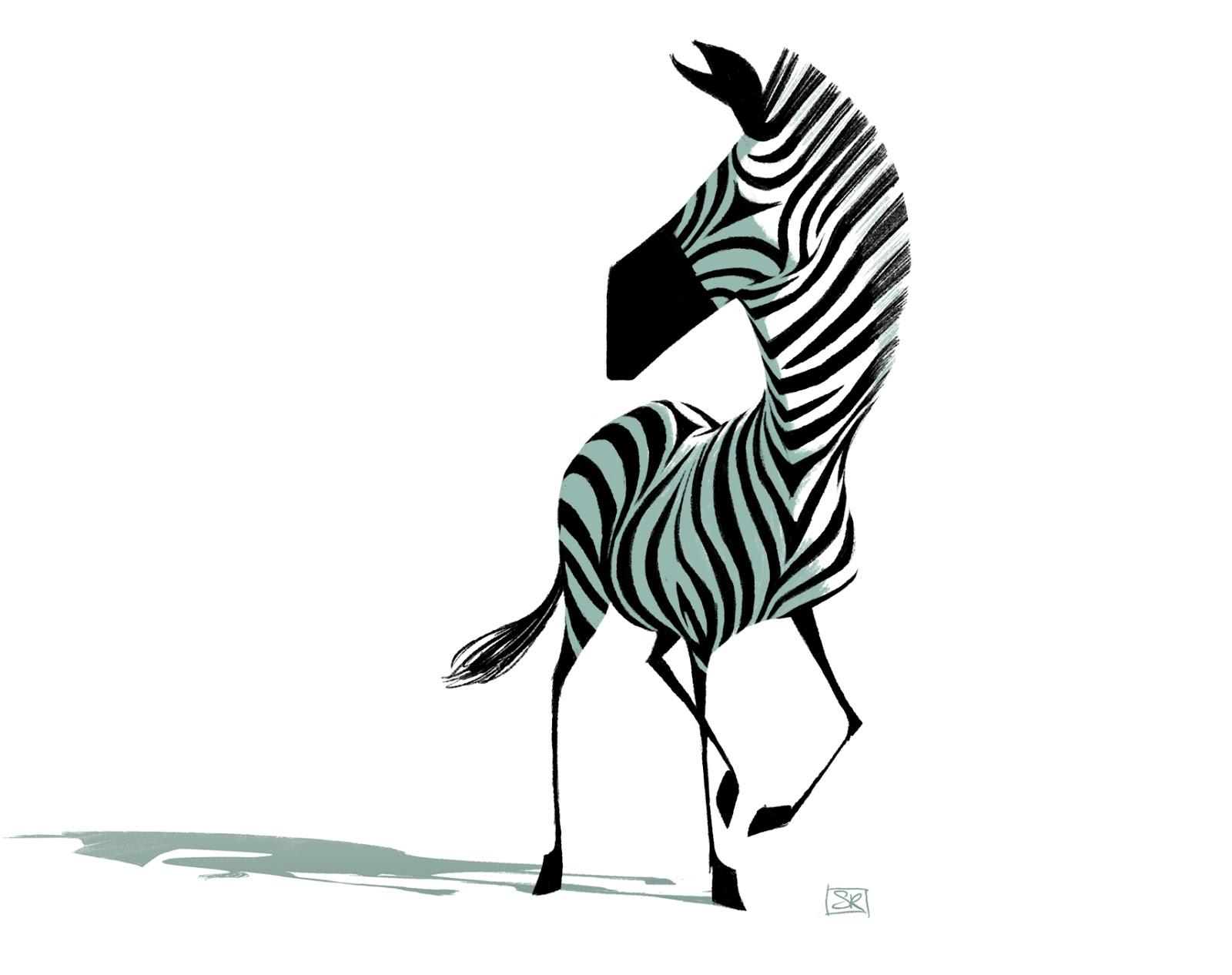 Zebra Character Design : Seb rouxel zebra