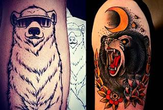 Melhores fotos tatuagens de urso