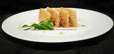 MILLE FEUILLE OF KHEEMA MASALA FINE DINING INDIAN COOKING IMAGE