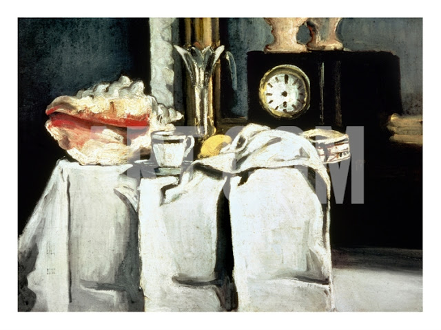 art for salon wall, The Black Marble Clock c. 1870, Cezanne