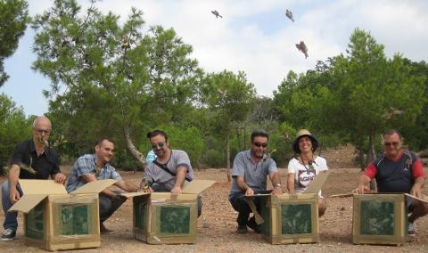 Álvaro: 'La reintegración en su hábitat de aves capturadas ilegalmente es un acto de simple justicia'