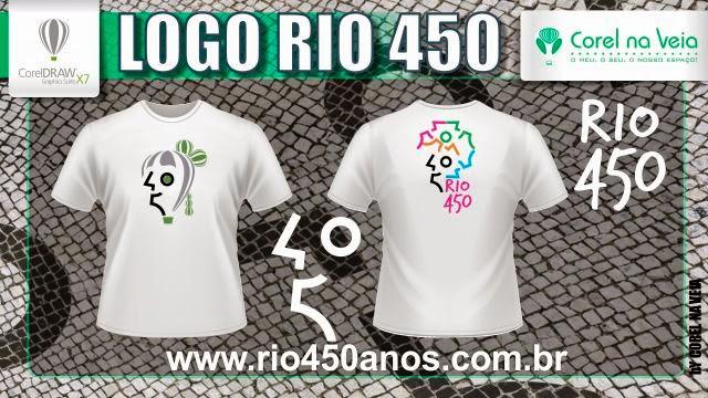 Logotipo Rio 450 Anos Corel na Veia Camisas