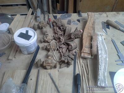 Реставрационная мастерская по дереву, элементы деревянного декора