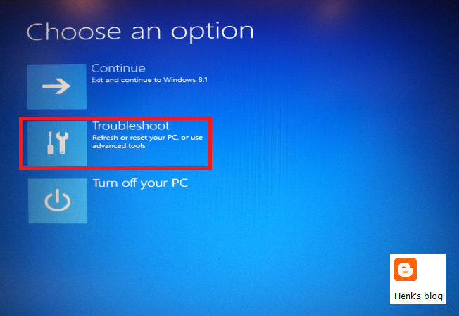 Henk's blog: Repair Windows 8.x from a bootable USB device