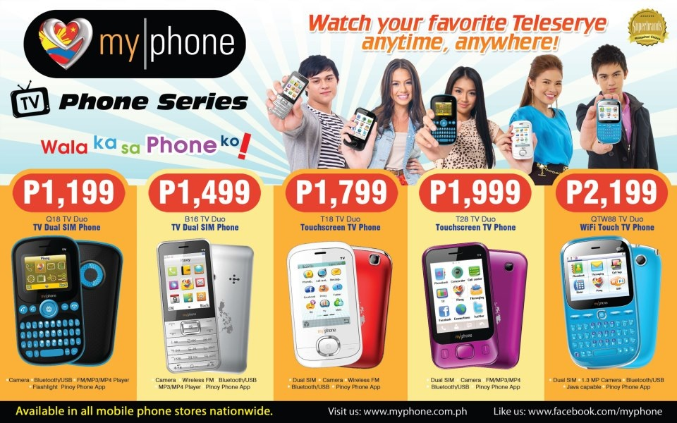MyPhone TV Phone Series Price List 2012!