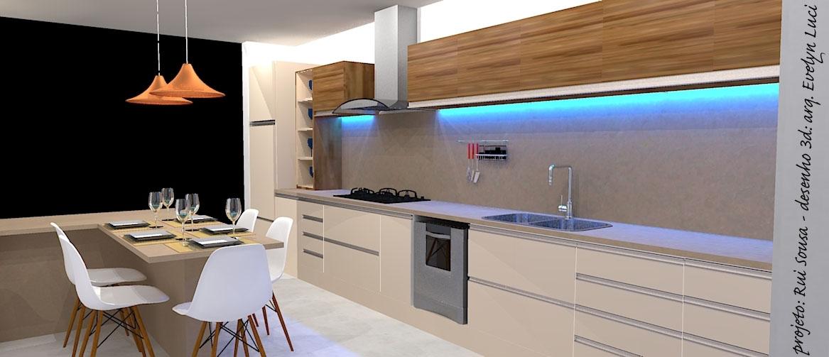 Armario Plastico Carrefour ~ Arquiteta Evelyn Luci Projeto 3d de cozinha