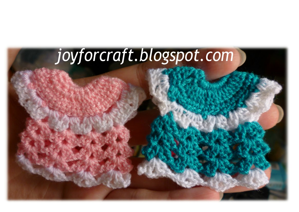 Joy For Craft: Crochet Cute Mini Dress