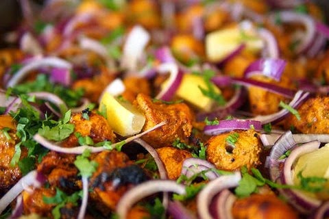 Mouth watering chicken kebabs