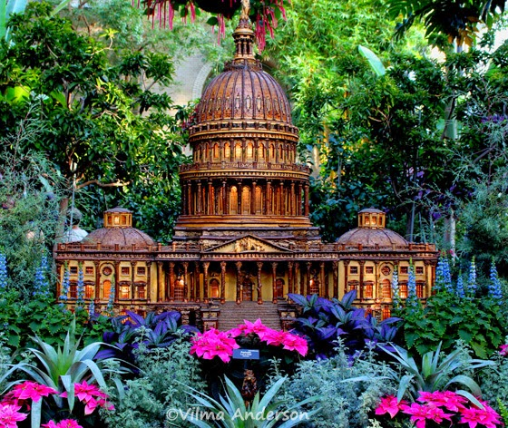 Capitol building miniature replica as seen at the US Botanic Garden