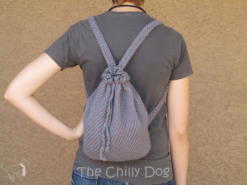 Crochet Backpack : ... bag and can be worn as a backpack or over one shoulder like a purse