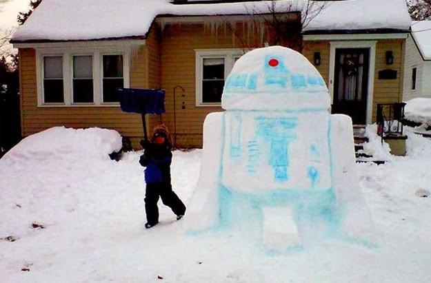 """фото снеговик в стиле """"Звёздные войны"""""""